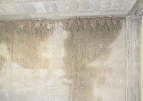 4.5 Διαρροή υγρασίας από την πλάκα και δημιουργία μούχλας στο ταβάνι από κάτω - Κεντρική Εικόνα