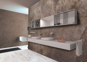 Πατητή τσιμεντοκονία με βελούδινη υφή στο μπάνιο σας - Κεντρική Εικόνα