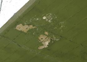Αποσάθρωση χρώματος και υποστρώματος (σοβά) βαμμένης επιφάνειας από προσβολή υγρασίας
