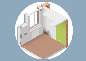 Προβλήματα σε εσωτερική τοιχοποιία - Κεντρική Εικόνα