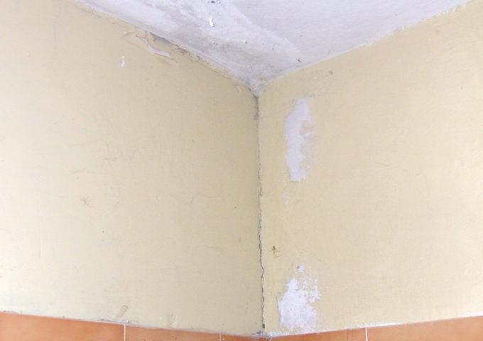 3.5 Ξεφλούδισμα και αποσάθρωση χρώματος καθώς και εμφάνιση λεκέδων υγρασίας στις βαμμένες επιφάνειες του μπάνιου - Κεντρική Εικόνα